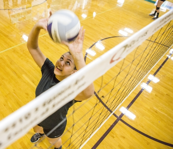 Silverado outside hitter Sydney Berenyi during practice on Monday, Aug. 24, 2015. She was selected the Northeast League's MVP last season as a freshman.JEFF SCHEID/LAS VEGAS REVIEW-JOURNAL F ...