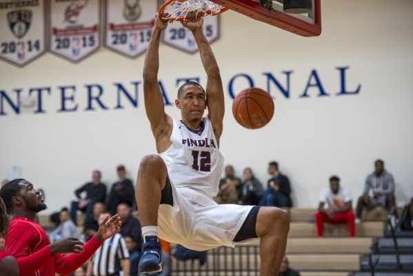 Tristan Clark of Findlay Prep dunks the ball against Planet Athlete Academy at Henderson International School in Henderson on Wednesday, Nov. 25, 2015. Joshua Dahl/Las Vegas Review-Journal