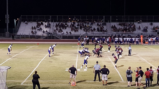 Desert Oasis opened the season with a 28-12 win over Durango on Friday night. (Graydon Johns/Las Vegas Review-Journal)
