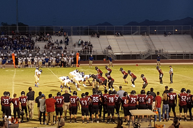 Desert Oasis held off Sierra Vista for a 19-6 win on Friday night. (Graydon Johns/Las Vegas Review-Journal)