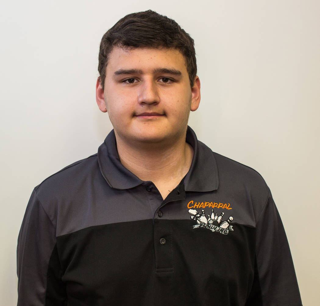 Dominic Olivares, Chaparral: Olivares teamed with Cardines to help the Cowboys make the 3A state team final. Olivares rolled a 531 series to place fifth in the individual state tournament.
