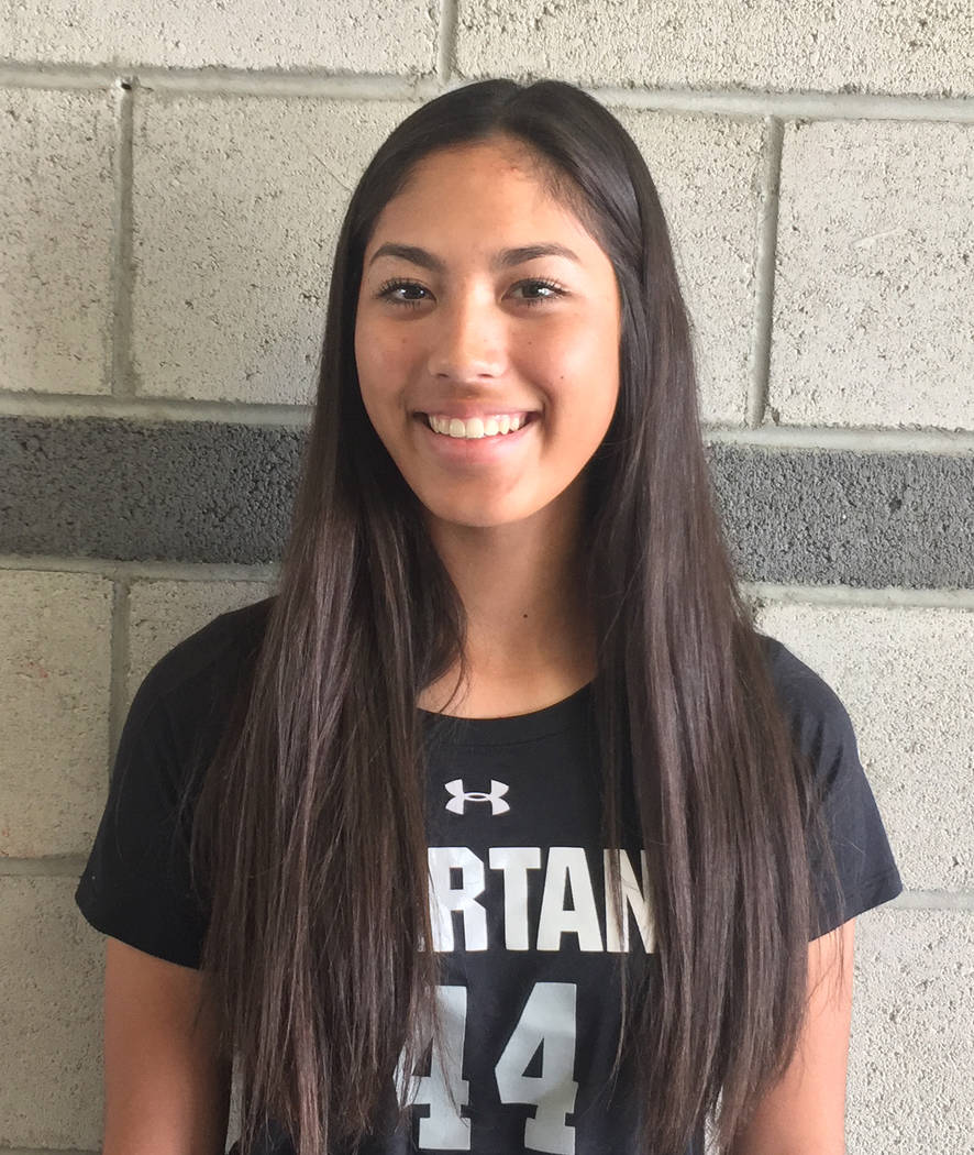 Tiarra Del Rosario, Cimarron-Memorial: The sophomore, who was named the Class 4A state Player of the Year by coaches, led Southern Nevada in completion percentage (68.3 percent), passing yards (5, ...