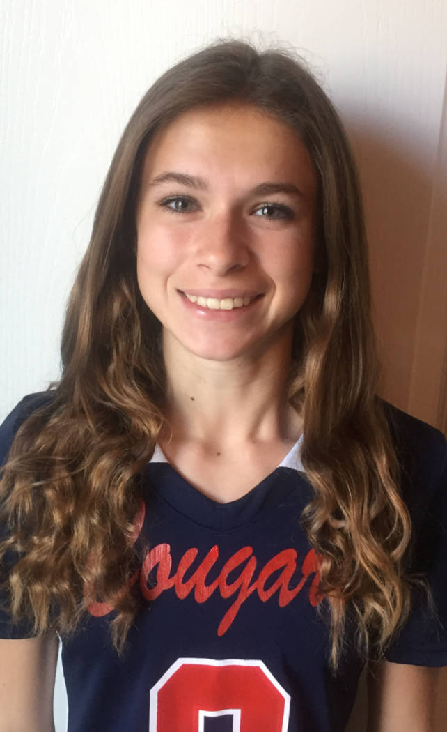 Caitlin Shannon, Coronado: The sophomore, who was named the Class 4A Sunrise Region Offensive Player of the Year, threw for 3,069 yards and 49 touchdowns to lead the Cougars to a state runner-up f ...