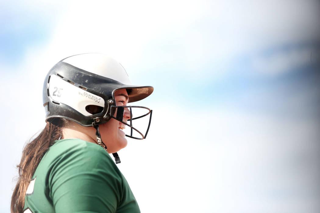 Palo Verde's Grace Chavez (25) prepares to bat during a game against Arbor View at Arbor View High School in Las Vegas, Monday, March 20, 2017. (Elizabeth Brumley /Las Vegas Review-Journal)