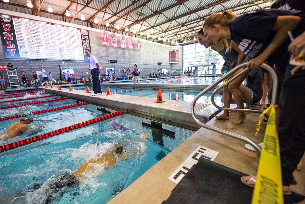 Swimming Tyler Peterson Leads Centennial Boys To Win Nevada Preps