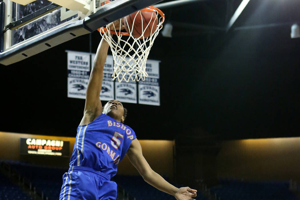 Bishop Gorman's Chuck O'Bannon, seen in 2016. (Cathleen Allison/Las Vegas Review-Journal)