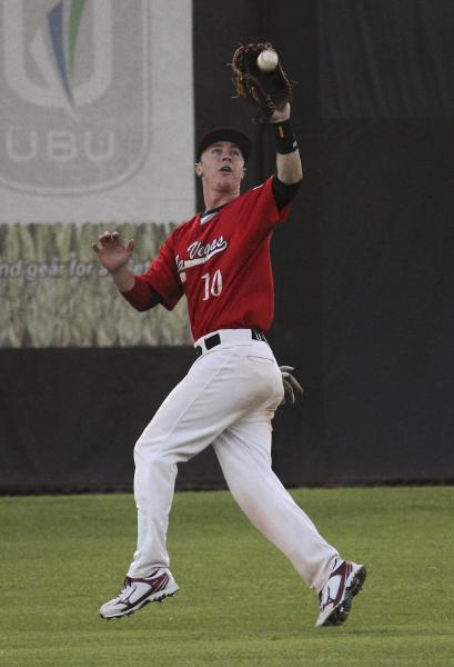 Liberty outfielder Dan Skelly makes the catch in a win over Cimarron-Memorial.