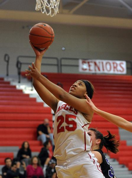 Arbor View's Dana Lewis shoots against Durango on Tuesday.