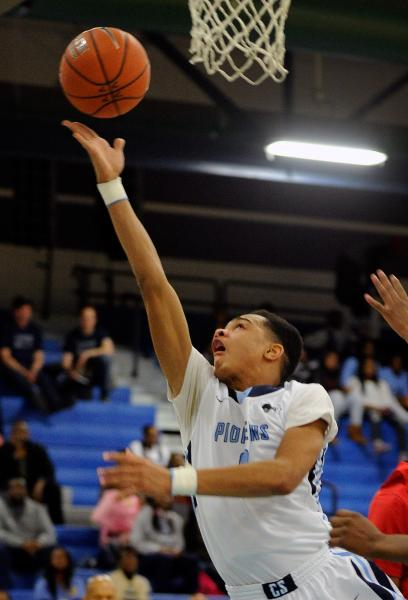 Canyon Springs' Jordan Davis lays up the ball against Las Vegas High on Wednesday.