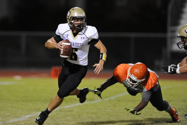Faith Lutheran quarterback Jacob Deaville has thrown for 1,692 yards with 16 touchdowns and six interceptions. He's also third on the team with 419 yards rushing in helping the Crusaders advance ...