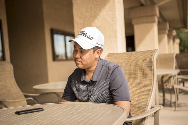 Desert Oasis golf team member Syouta Wakisaka speaks during an interview at Palm Valley Golf Course in Las Vegas on Wednesday, March 9, 2016. Joshua Dahl/Las Vegas Review-Journal