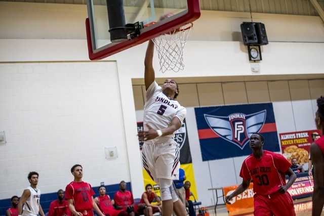 P.J. Washington of Findlay Prep dunks the ball against Planet Athlete Academy at Henderson International School in Henderson on Wednesday, Nov. 25, 2015. Joshua Dahl/Las Vegas Review-Journal