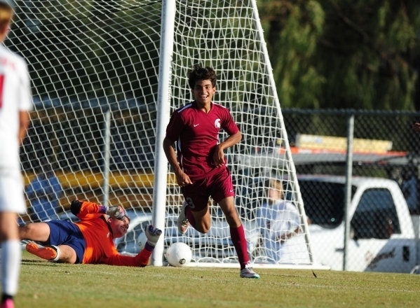 Arturo Bahena scored 13 goals for the Spartans last season. (Josh Holmberg/Las Vegas Review-Journal)