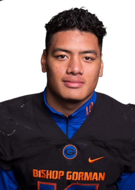 LB Palei Gaoteote, Bishop Gorman (6-2, 220): The junior led the Gaels with 68 tackles. He had 11 ½ tackles for loss and two sacks in helping the Gaels run their winning streak to 54 games.