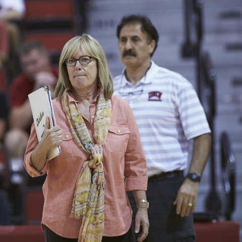 UNLV Women's Volleyball team defeated Portland State in five sets in the Cox Pavilion September 11, 2015 at the University of Nevada, Las Vegas. (Aaron Mayes / UNLV Photo Services)  Client: ATHLET ...