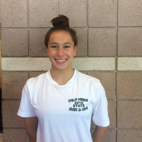 Erica Sullivan, Palo Verde: The sophomore distance specialist won the 200 and 500 freestyles at the Division I Sunset Region meet and bettered the state-meet record in the 500 (4:47.44) by more th ...