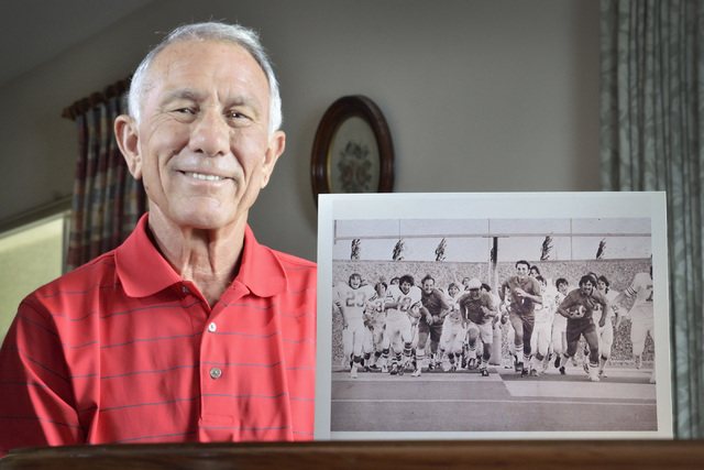 Dave Gerber is shown at his home in Sun City Anthem in Henderson on Thursday, Sept. 25, 2014. Gerber was head coach at Bishop Gorman High School from 1973 to 1979 and at Valley High School from 19 ...