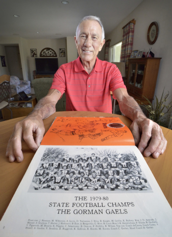 Dave Gerber is shown at his home in Sun City Anthem in Henderson on Thursday, Sept. 25, 2014. Gerber was head coach for Bishop Gorman High School from 1973 to 1979 and at Valley High School from 1 ...