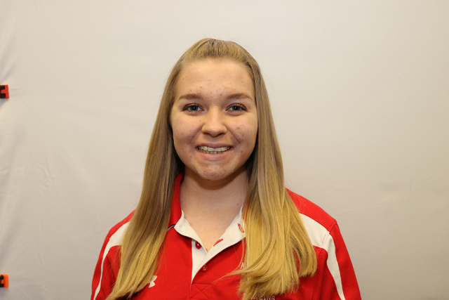 Meagan Huggins, Arbor View: The junior ranked third in the Sunset Region with a 174.8 average.