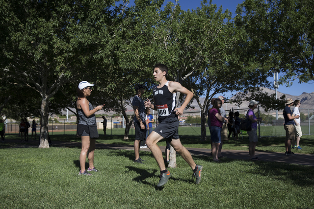 Palo Verde's Daniel Ziems, who finished third place, runs  in the cross country boys varsity Palo Verde Labor Day Classic at Palo Verde High School on Saturday, Sept. 3, 2016, in Las Vegas. Erik V ...