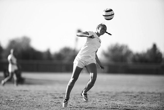 Foothill's Aqua Williams (13) leaps for the ball against Silverado in the girl's soccer game at Foothill High School on Thursday, Sept. 22, 2016, in Las Vegas. Foothill won 2-0. Erik Verduzco/Las  ...