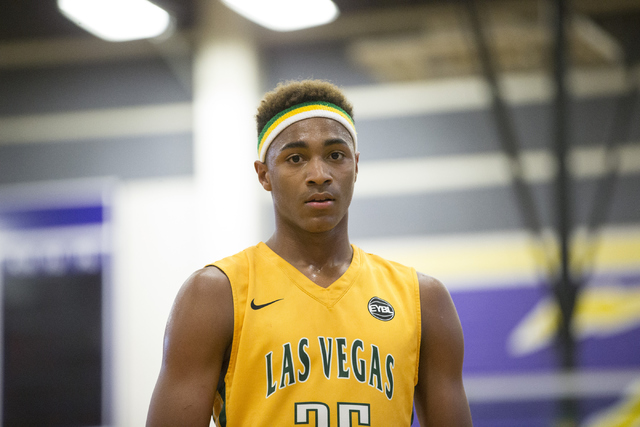 Las Vegas Prospects' Charles O'Bannon Jr. (25) looks on in his game against Dream Vision in the NY2LA Sports Summer Showndown tournament at Durango High School on Wednesday, July 20, 2016, in Las  ...