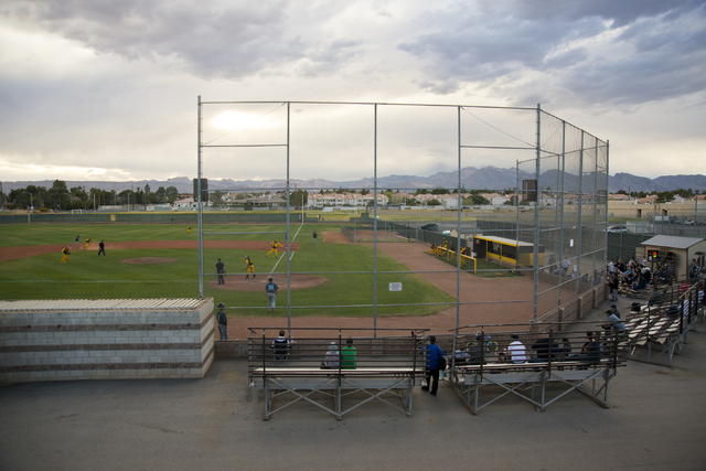 Fans watch the Bonanza versus Silverado baseball game at Bonanza High School in Las Vegas on Friday, March 11, 2016. Bonanza won the game 8-0. Daniel Clark/Las Vegas Review-Journal Follow @DanJCla ...