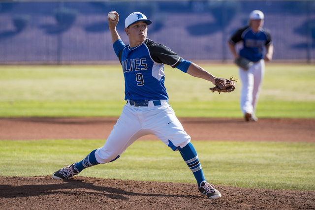 basic high school pitcher cj dornak 9 pitches against las vegas high school at