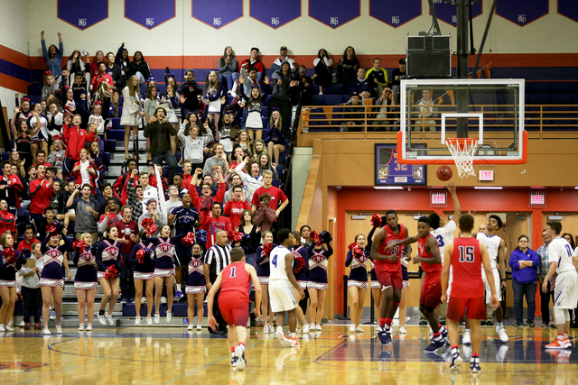 The crowd cheers for Coronado after they scored during a basketball game at Bishop Gorman High School on Tuesday, Dec. 6, 2016, in Las Vegas. (Rachel Aston/Las Vegas Review-Journal) @rookie__rae