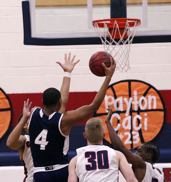 Foothill's Mauricio Smith (4) shoots during the first half of a high school basketball game on Tuesday, Feb. 7, 2017, in Henderson. (Christian K. Lee/Las Vegas Review-Journal) @chrisklee_jpeg