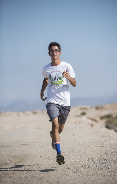 Junior Bruce Troncoso, 16, runs during cross country practice at Southeast Career Technical Academy on Tuesday, Oct. 25, 2016. Martin S. Fuentes/Las Vegas Review-Journal