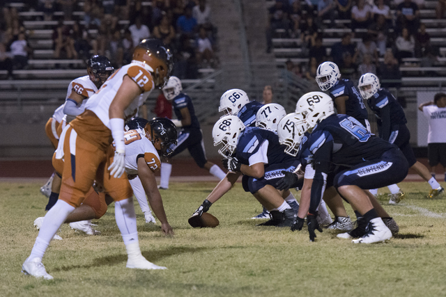 Legacy plays a football game at Centennial in Las Vegas, Friday, Sept. 30, 2016. Jason Ogulnik/Las Vegas Review-Journal