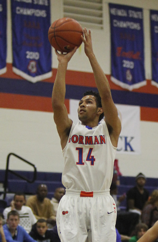 Bishop Gorman senior point guard Noah Robotham is the Review-Journal's boys state Player of the Year. (Jason Bean/Las Vegas Review-Journal)