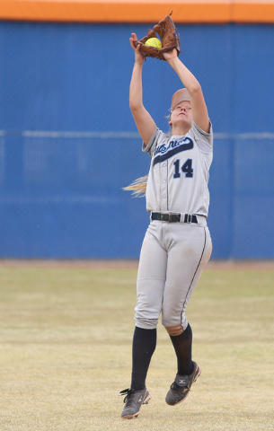 Centennial shortstop Heather Bowen earned the Review-Journal's state player of the year award for the second time in three years. (Ronda Churchill/Las Vegas Review-Journal)
