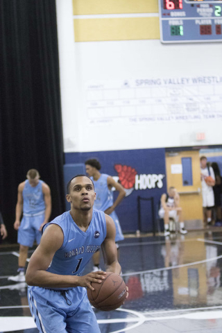 Team Howard Pulley shooting guard Gary Trent Jr. (1) goes for a shot against team UBC during the Las Vegas Classic AAU game at Spring Valley High School on Friday, July 22, 2016.(Richard Brian/Las ...