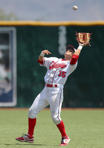 Liberty second baseman Ethan Ibarra makes a catch against Centennial in the Division I state championship game on Saturday. Liberty defeated Centennial 5-3 to win the title. (Cathleen Allison/Spec ...