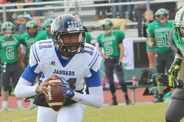 Desert Pines senior quarterback Marckell Grayson, a UNLV commit, suffered a torn anterior cruciate ligament in his left knee during last week's 44-41 victory over Centennial and will miss the re ...