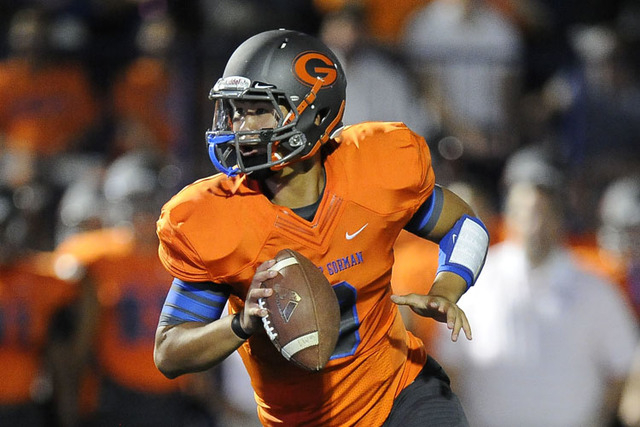 Quarterback Danny Hong who ended his season as Gorman's backup, committed to Columbia on Thursday. (Josh Holmberg/Las Vegas Review Journal)