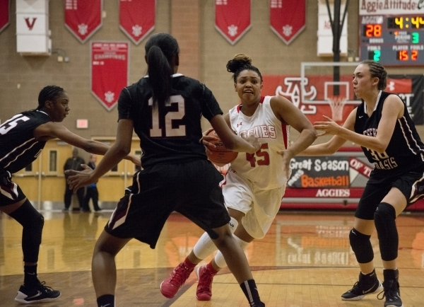 Autumn Westmoreland (45) is one of four returning starters for Arbor View. Daniel Clark/Las Vegas Review-Journal