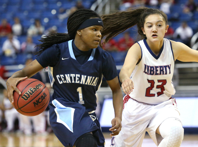 Senior guard Pam Wilmore (1) is one of four returning starters for last year's Division I state champions. (Cathleen Allison/Las Vegas Review-Journal)