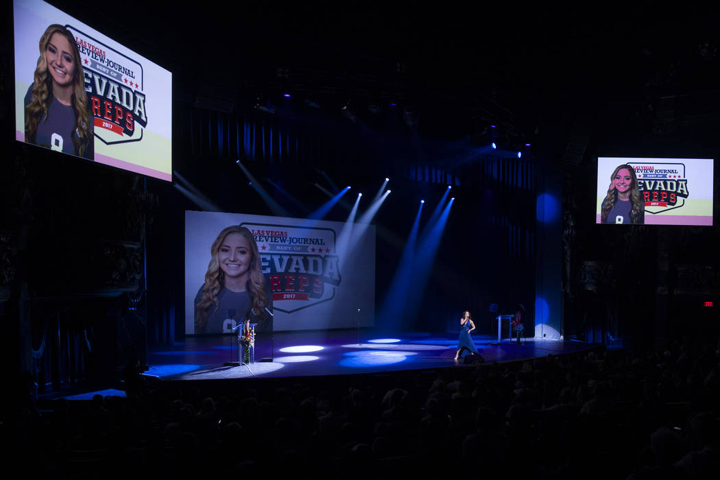 Cian Coey performs during the annual Best of Nevada Preps Awards at the Venetian hotel-casino on Saturday, June 3, 2017 in Las Vegas. Erik Verduzco/Las Vegas Review-Journal