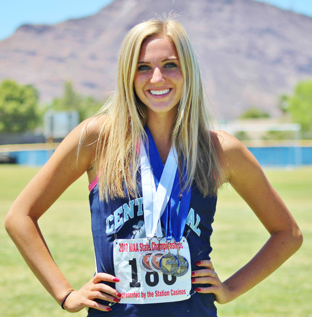 Talie Bonds, Centennial: The senior swept the hurdles events at the Class 4A state meet with times that were the best in Nevada this year, winning the 100-meter hurdles in 13.86 seconds and the 30 ...