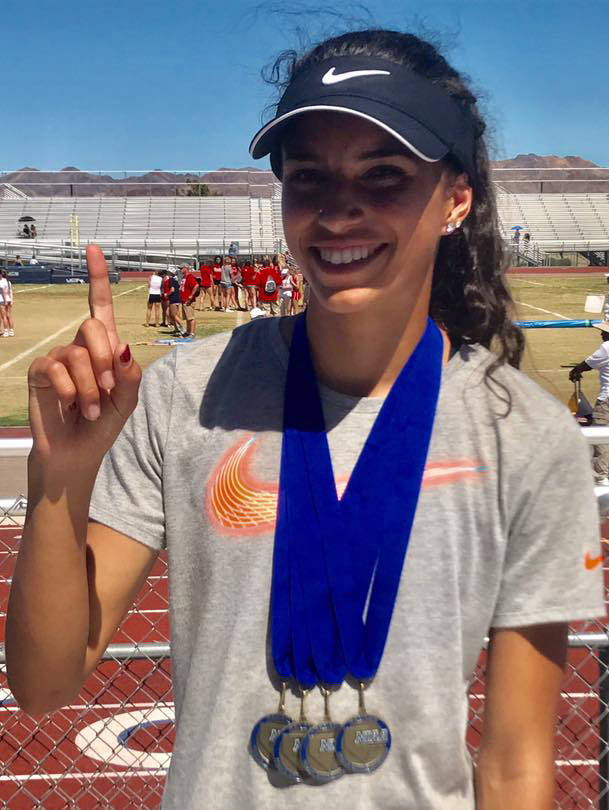 Maya Brosch, South Tahoe: The senior won four individual events, including setting a Class 3A state meet record by finishing the 300 hurdles in 43.98. She also won the 100 hurdles (14.91), 200 (25 ...