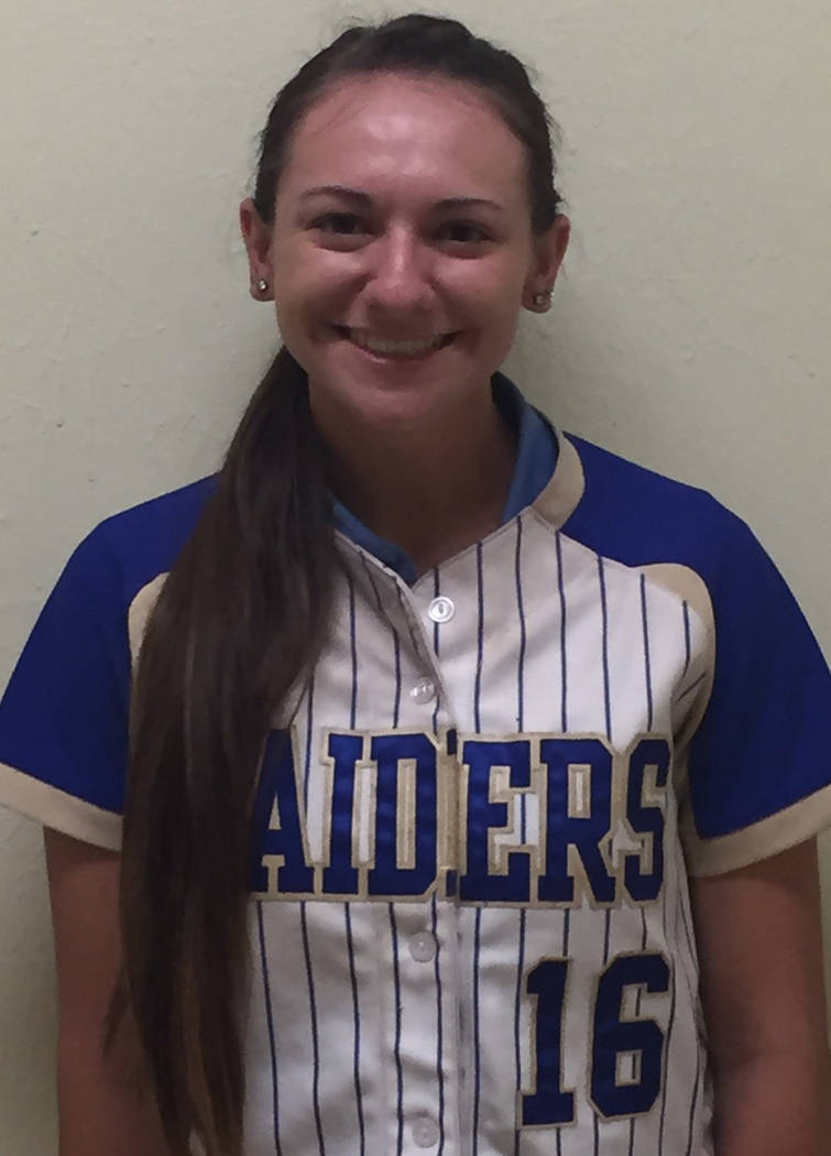 IF Allie Hughes, Reed: The senior was a member of the Northern 4A All-Region first team and hit .491 with eight home runs and 35 RBIs for the Raiders.
