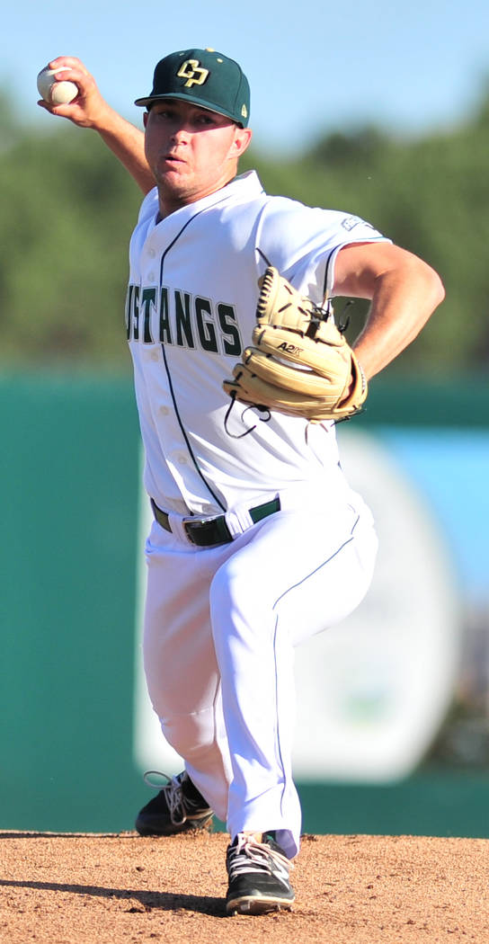 Cal Poly (Calif.) right-hander Erich Uelmen, a Faith Lutheran graduate, is expected to be the top local taken in the 2017 Major League Baseball Draft. (Cal Poly Athletics)