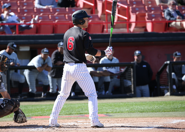 UNLV leading hitter Payton Squier raised his average almost 100 points from last season, when he batted .287 as a freshman. (Photo courtesy UNLV)