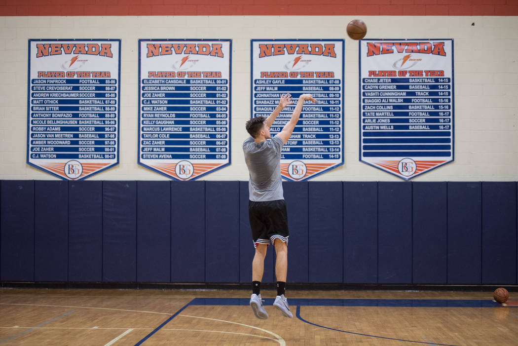 Portland Trail Blazers rookie Zach Collins trains at alma mater Bishop Gorman High School on Friday, June 30, 2017, in  Las Vegas. Morgan Lieberman Las Vegas Review-Journal