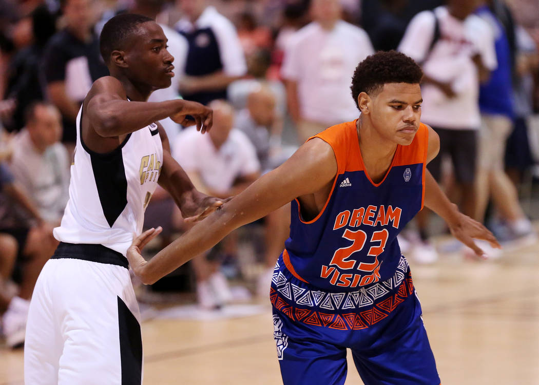 Dream Vision player Bryan Penn-Johnson plays in an Adidas Summer Championship AAU tournament game at Cashman Center in Las Vegas on Wednesday, July 26, 2017.  Bridget Bennett Las Vegas Review-Jour ...