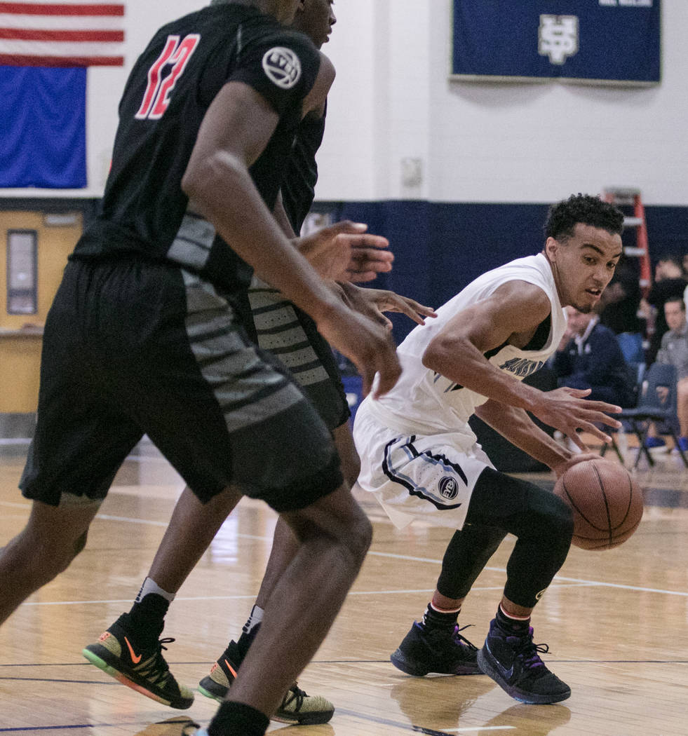 Howard Pulley Panthers point guard Tre Jones against the Houston Hoops at Spring Valley High School on Friday, July 28, 2017, in Las Vegas. Morgan Lieberman Las Vegas Review-Journal