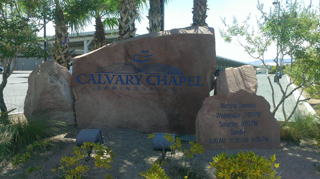 Jonathan Saxon/Las Vegas Review-Journal The entrance to Calvary Chapel, where former NCAA coach Dave Bliss was hired as the athletic director and basketball coach.